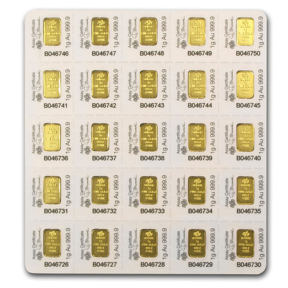 PAMP Suisse 25x 1g Multigram Gold Bar (Image 2)