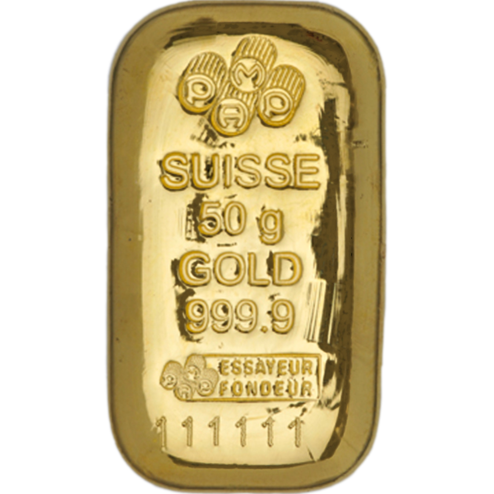 PAMP Suisse 50g Gold Cast Bar