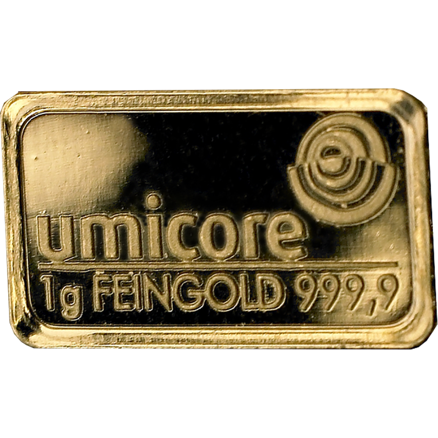 Umicore 1g Stamped Gold Bar