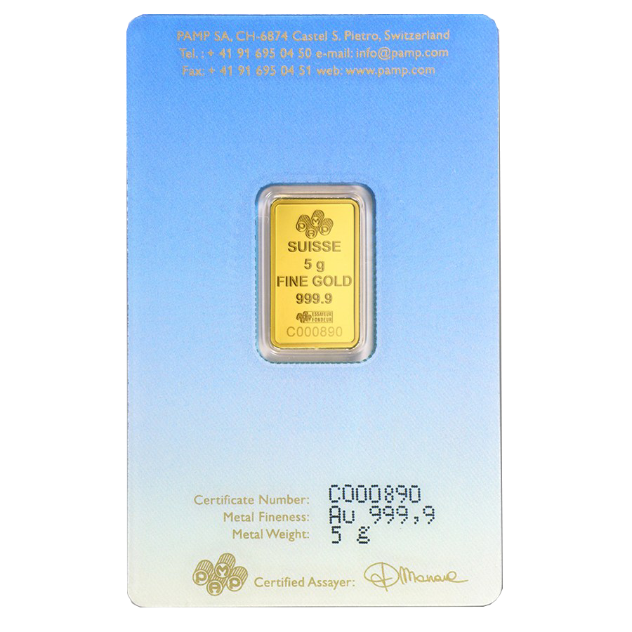 PAMP 'Faith' Ka ´Bah, Mecca 5g Gold Bar (Image 2)
