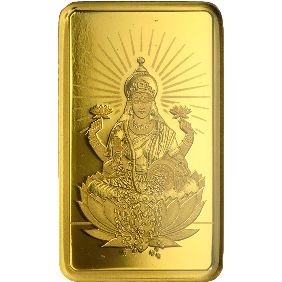 PAMP 'Faith' Lakshmi 5g Gold Bar (Image 3)