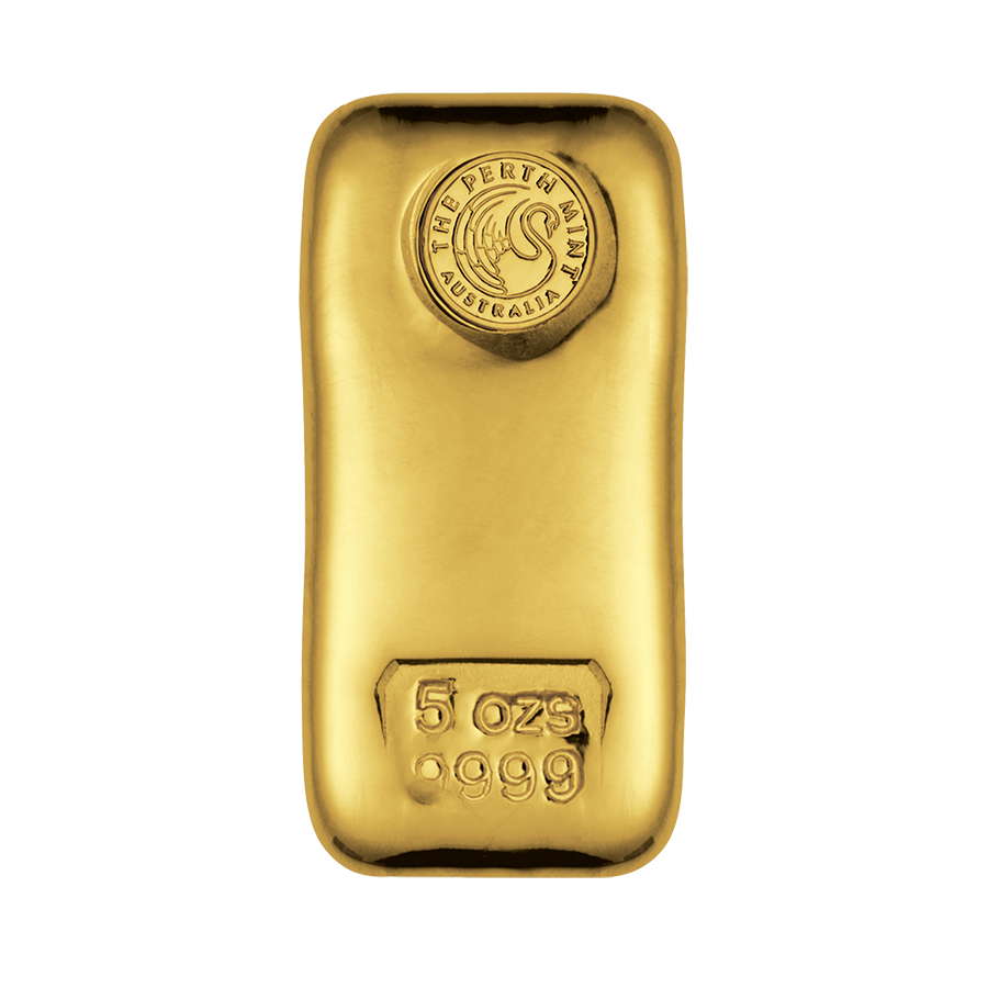 Perth Mint 5oz Cast Gold Bar Live Gold Bullion Pricing