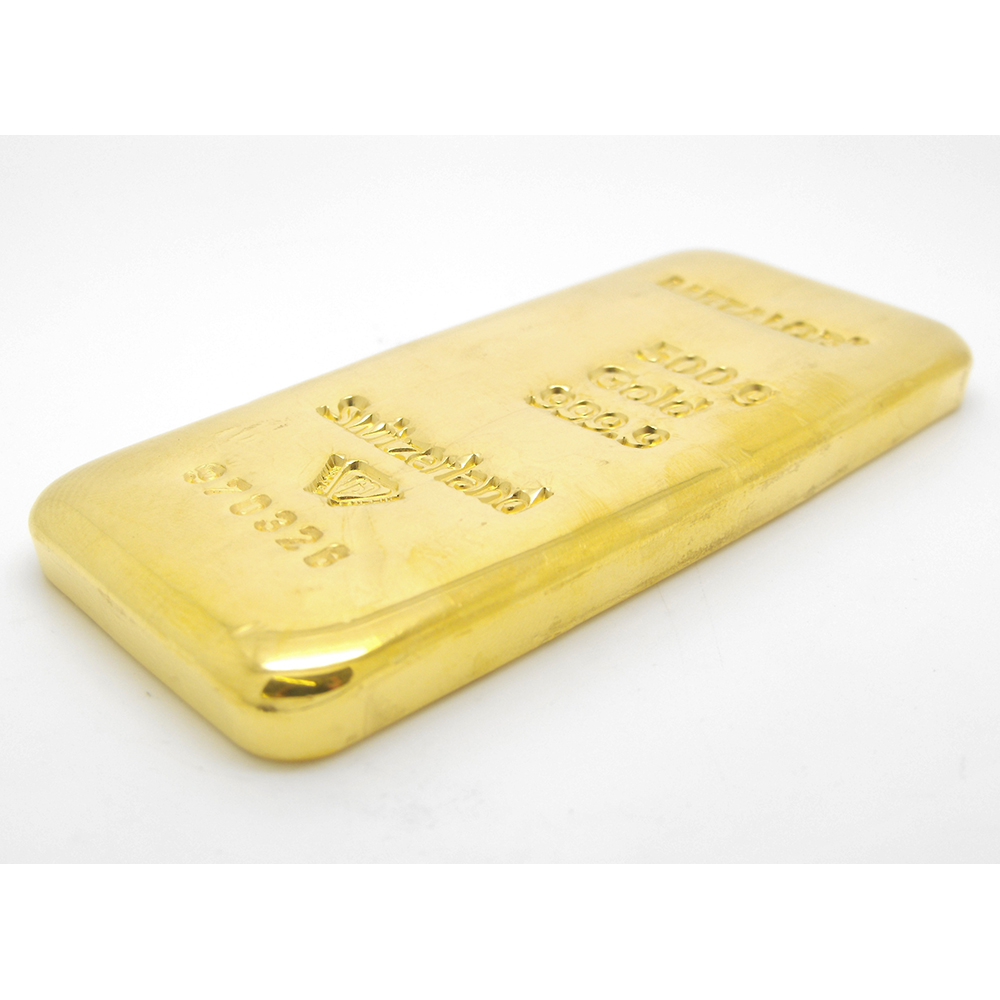 Pre Owned Cheap Metalor 500g Gold Cast Bar Atkinsons