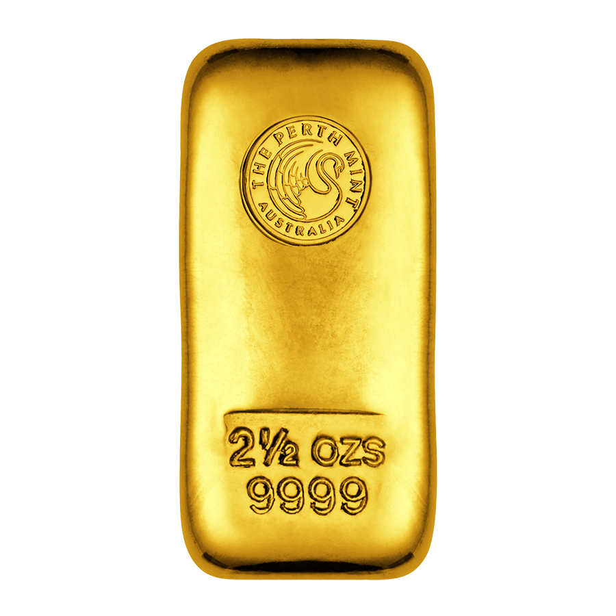 Buy The Perth Mint 2 5oz Cast Gold Bar Atkinsons