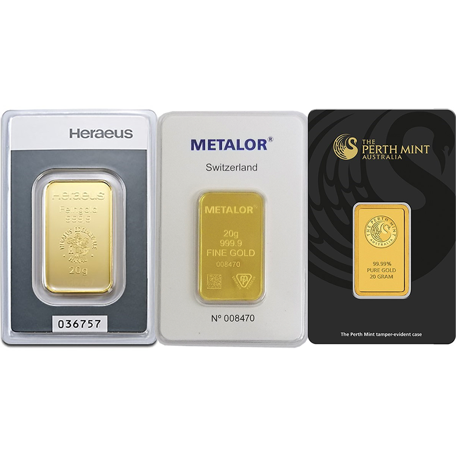 20g Gold Bar - Certificated