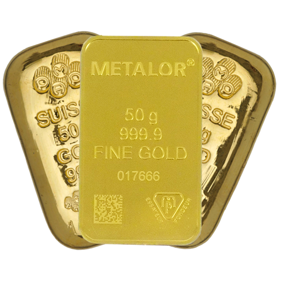 50g Gold Bullion Bar