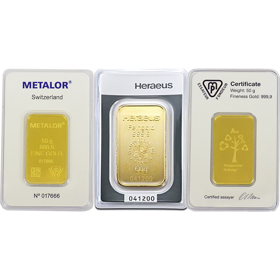 50g Gold Bar Certificated