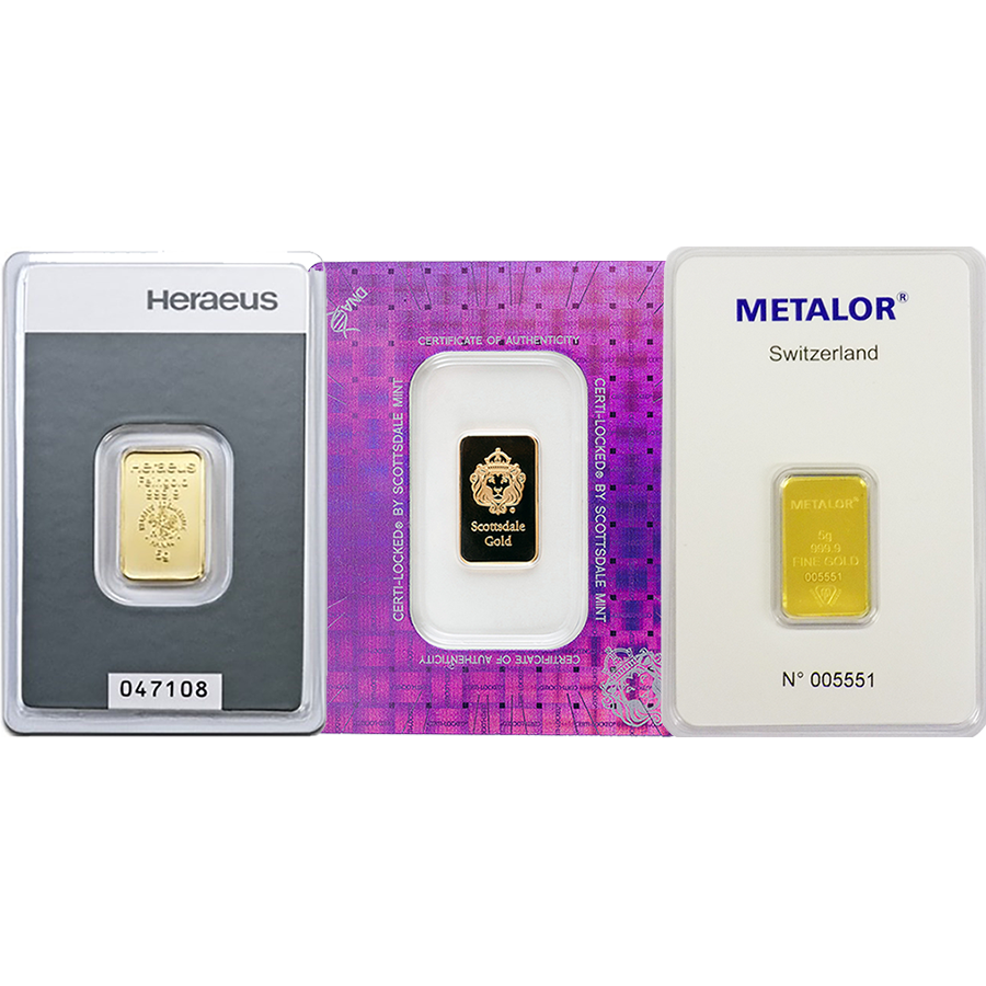 5g Gold Bar - Certificated