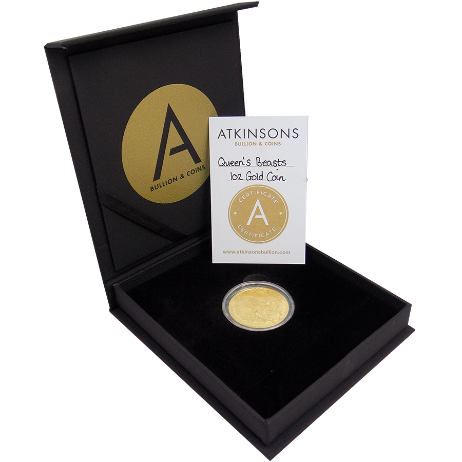2017 UK Queen's Beasts The Dragon 1oz Gold Coin with Gift Box & Certificate