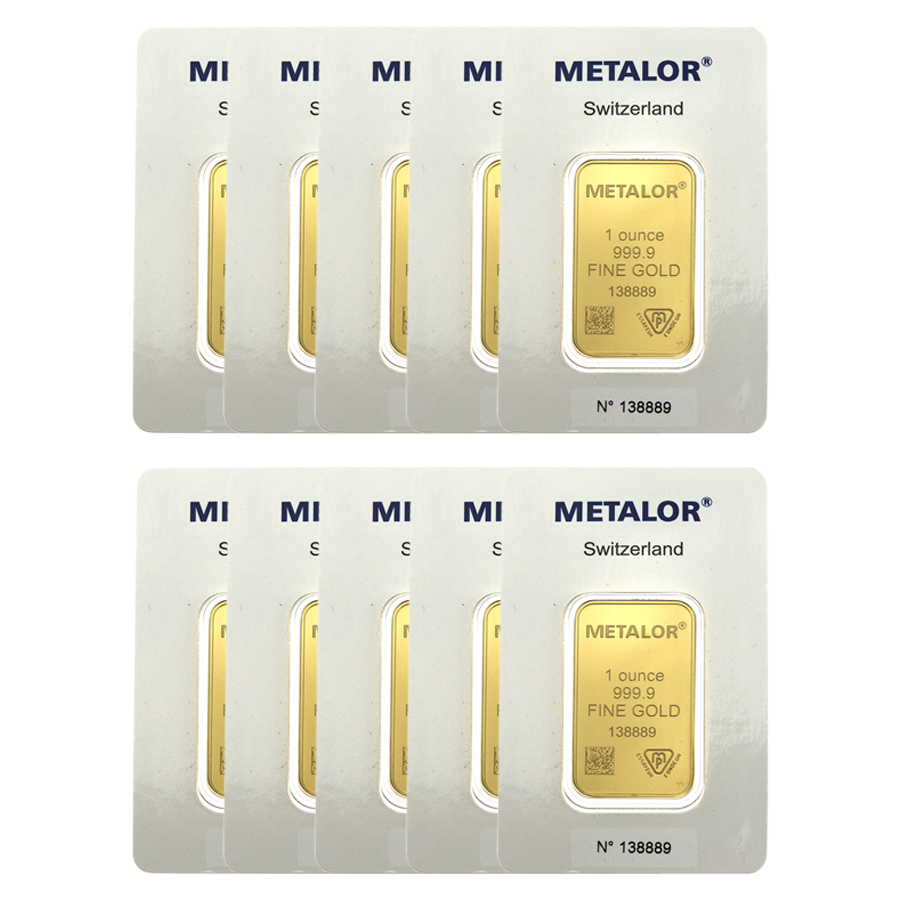 Metalor 1oz Gold 10 Bar Bundle (Image 2)