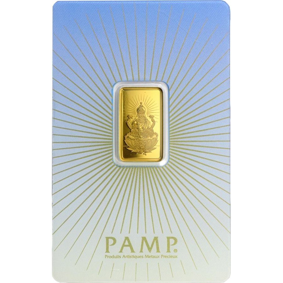 PAMP 'Faith' Lakshmi 5g Gold Bar with Gift Box & Certificate (Image 2)