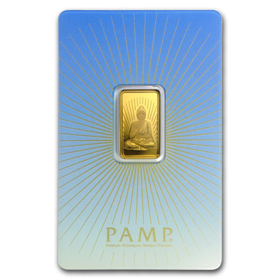 PAMP 'Faith' Buddha 5g Gold Bar with Gift Box & Certificate (Image 2)