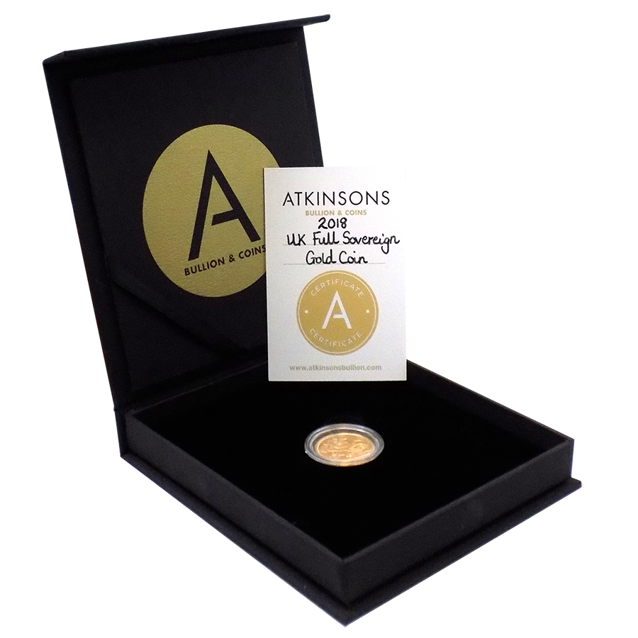 2018 UK Full Sovereign Gold Coin with Gift Box & Certificate