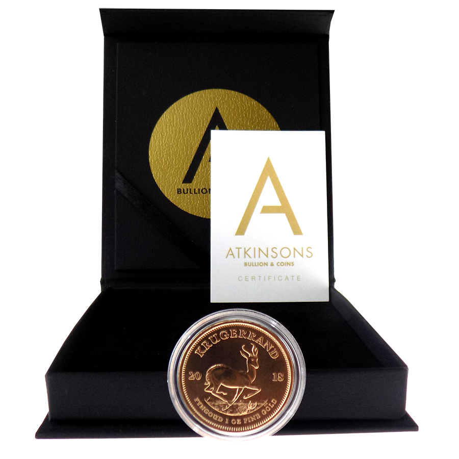2018 South African Krugerrand 1oz Gold Coin with Gift Box & Certificate (Image 2)