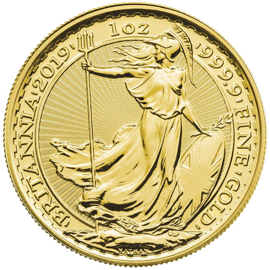 2019 UK Britannia 1oz Gold Coins - Full Tube of 10 Coins (Image 2)