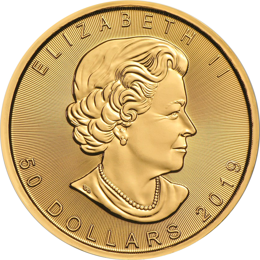 2019 Canadian Maple 1oz Gold Coins - Full Tube of 10 Coins (Image 3)