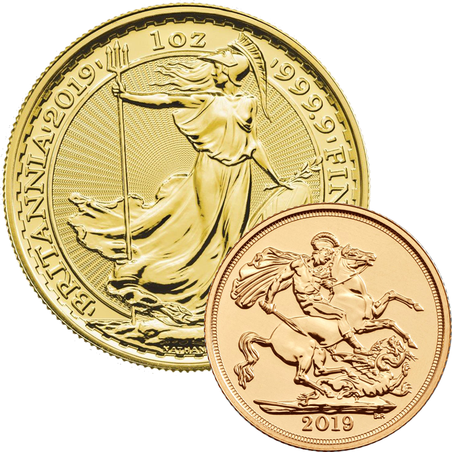 2019 UK Full Sovereign & 2019 Britannia 1oz Gold Coin Collection