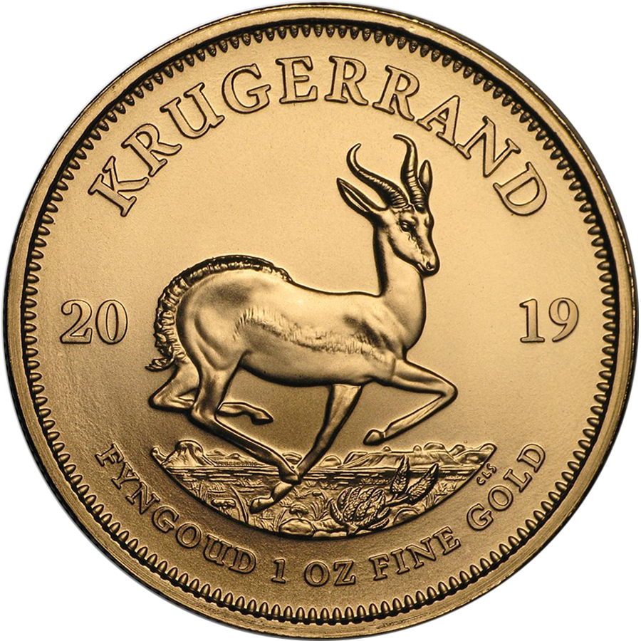 2019 South African Krugerrand 1oz Gold Coins - Full Tube of 10 Coins (Image 2)