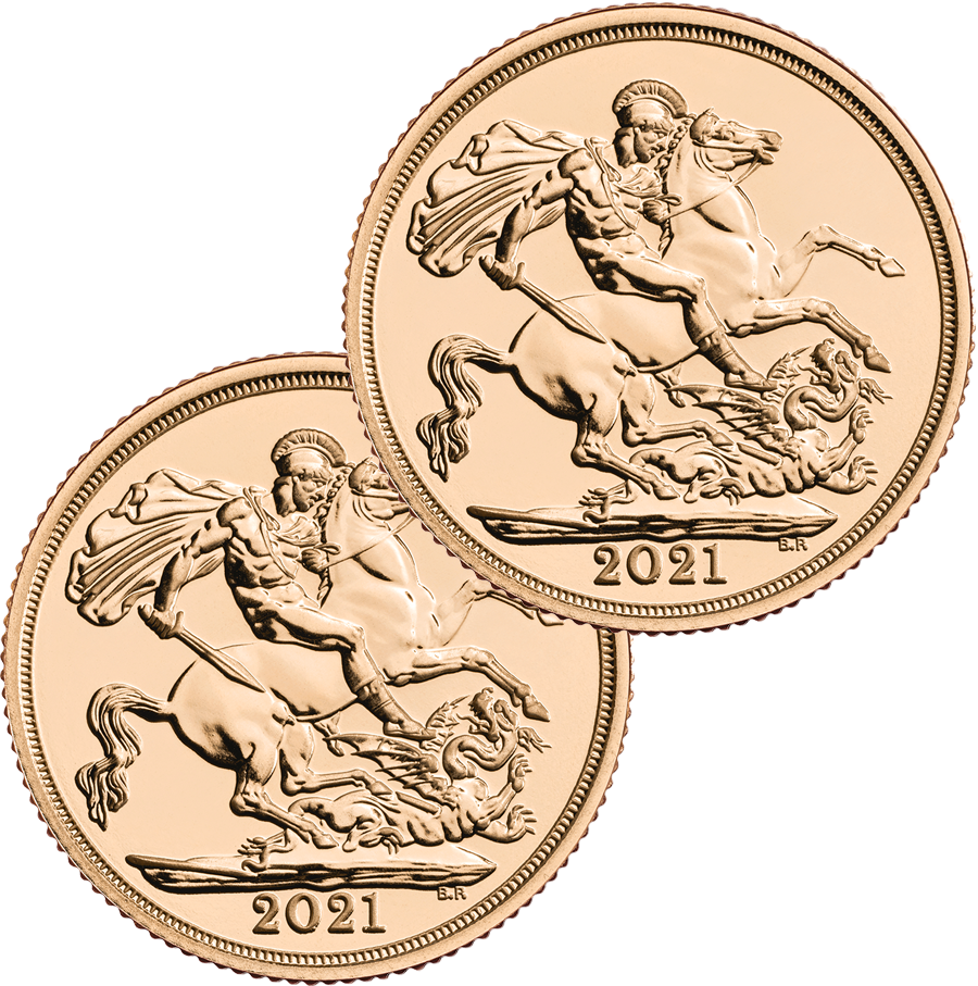 2021 UK Full Sovereign Gold 2 Coin Bullion Bundle