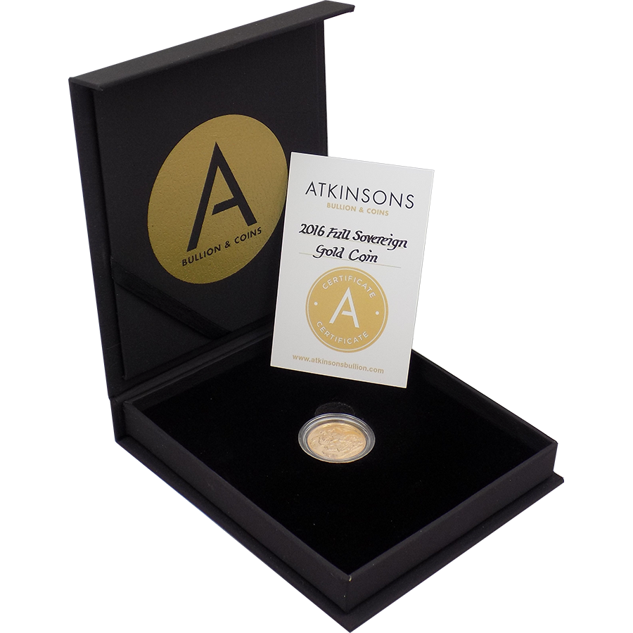 2016 UK Full Sovereign Gold Coin with Gift Box & Certificate