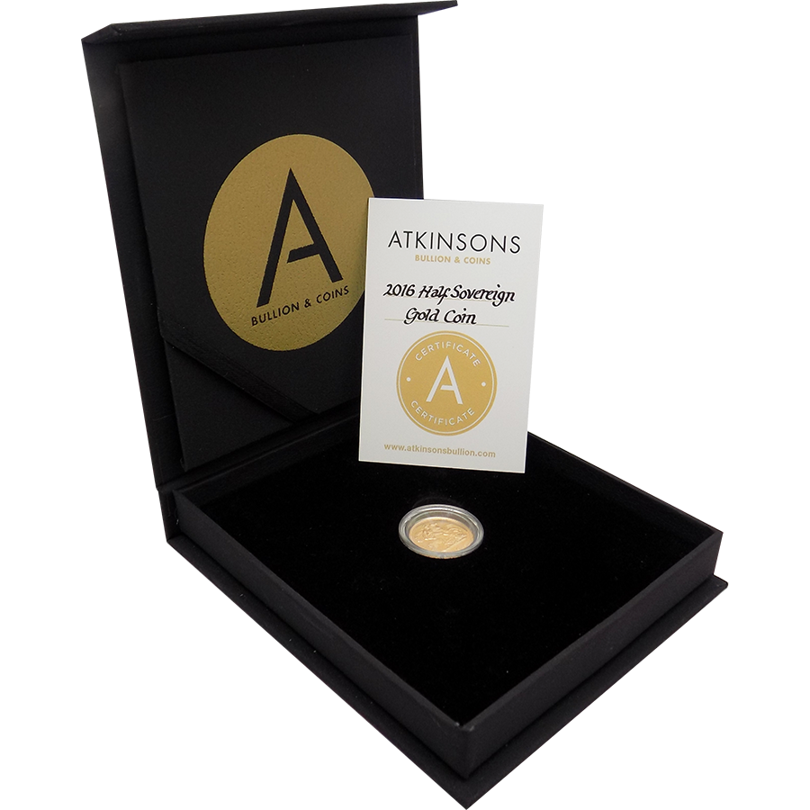 2016 UK Half Sovereign Gold Coin with Gift Box & Certificate