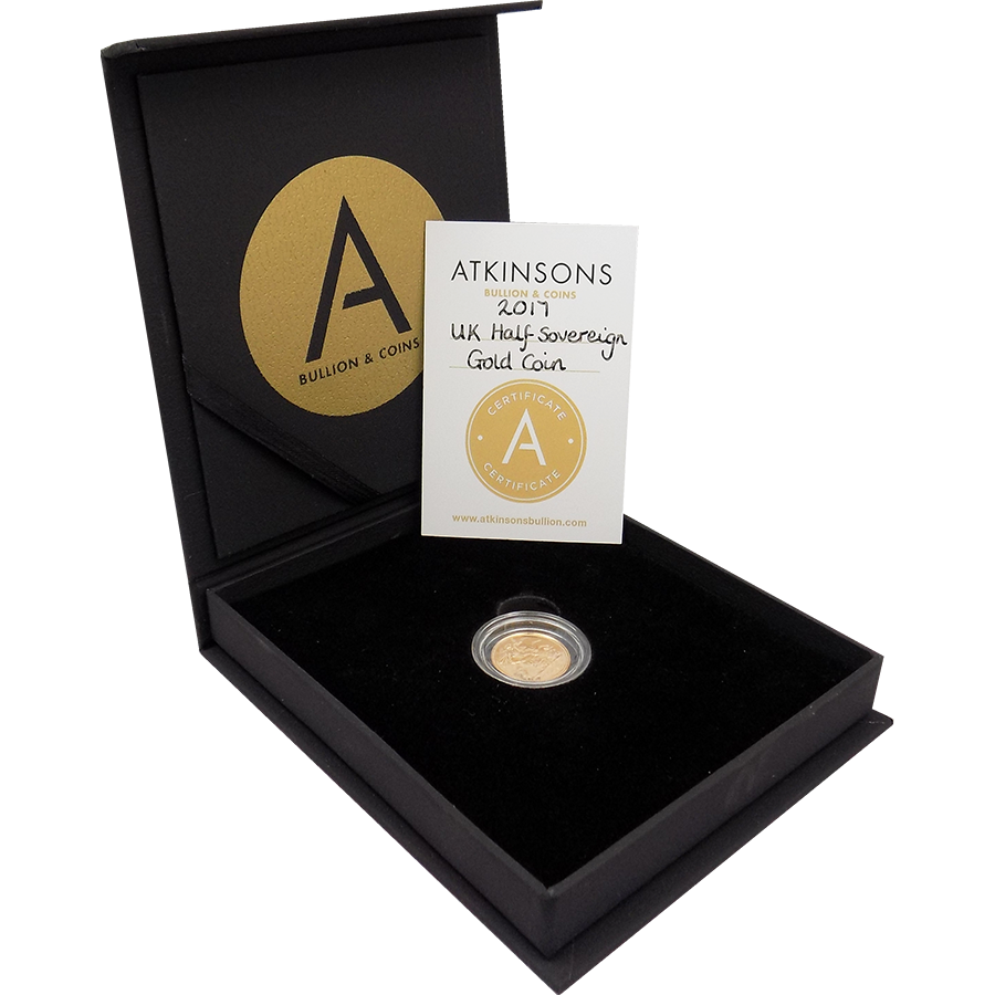2017 UK Half Sovereign Gold Coin with Gift Box & Certificate