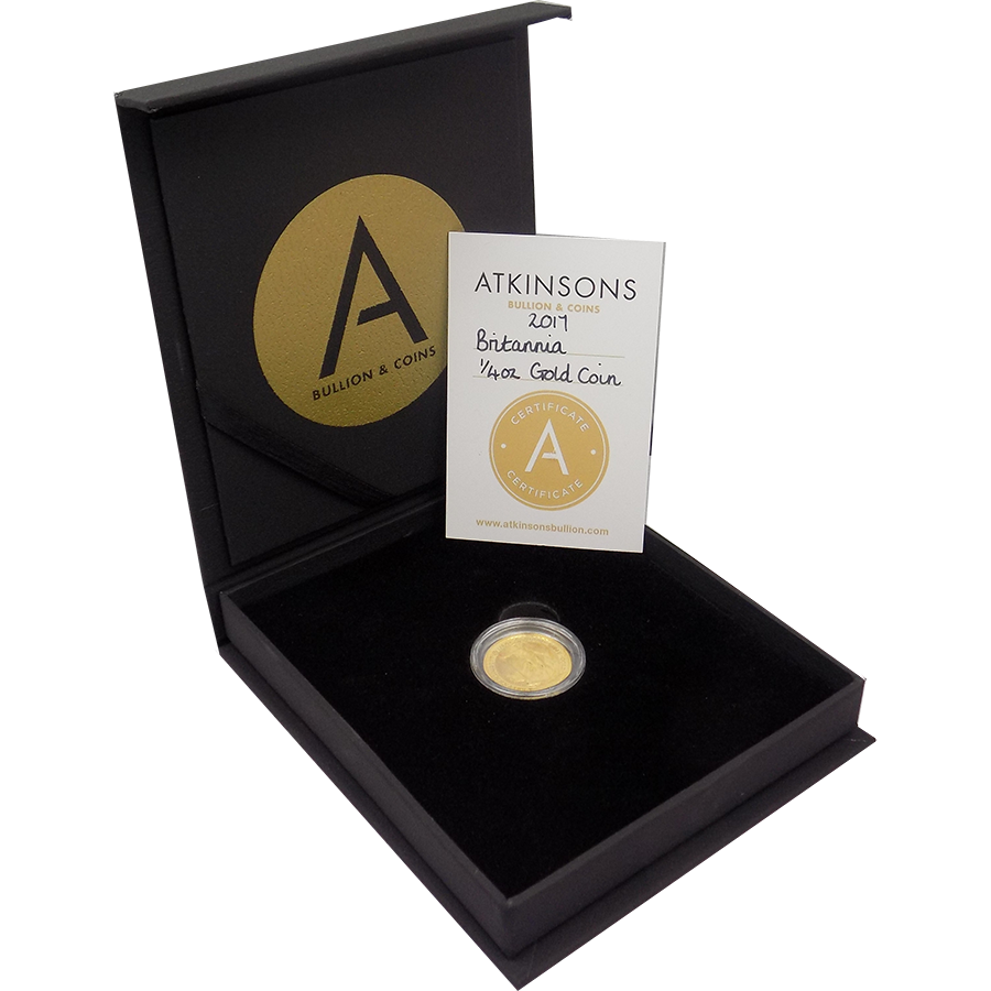 2017 UK Britannia 1/4oz Gold Coin with Gift Box & Certificate (Image 1)