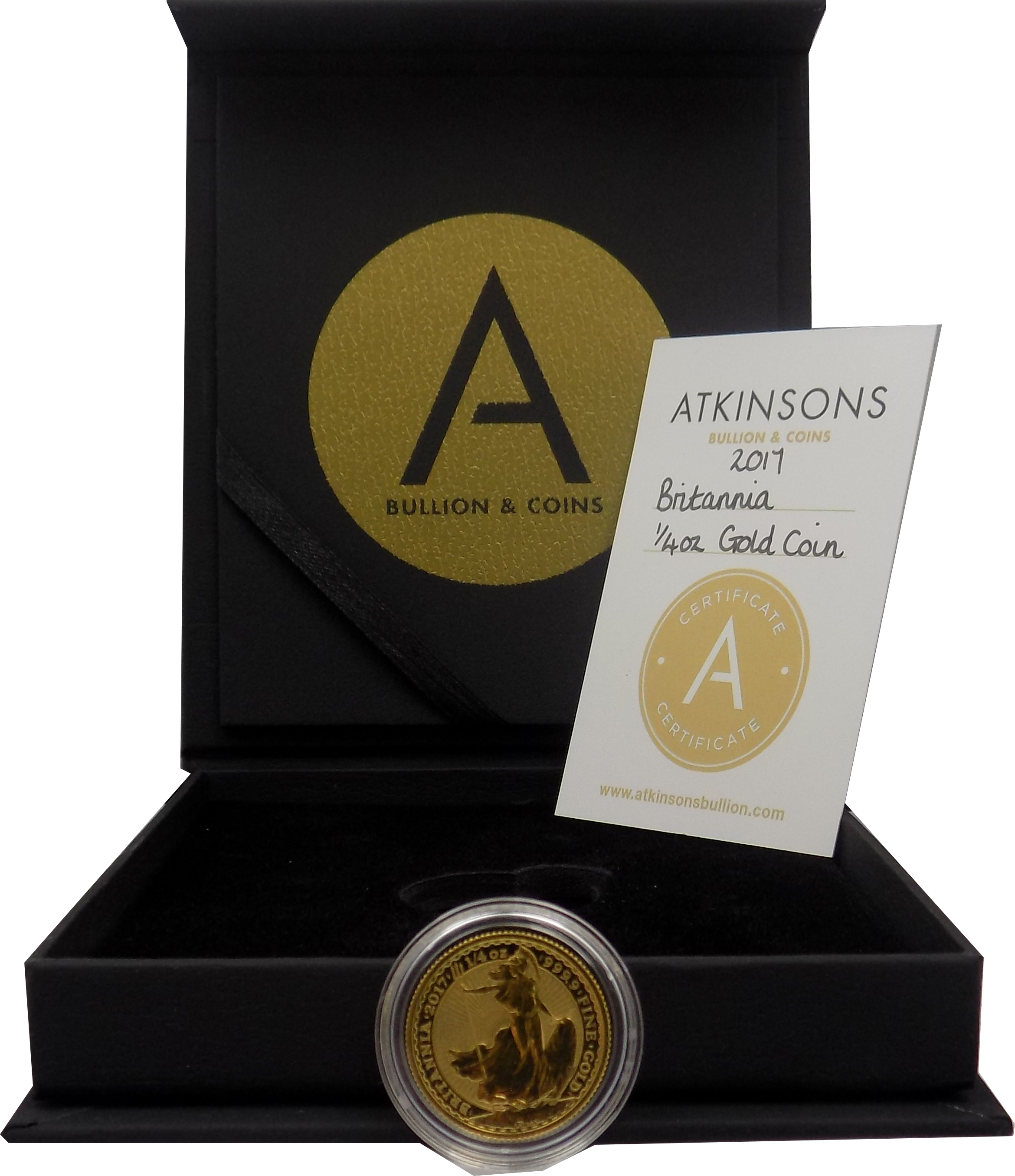 2017 UK Britannia 1/4oz Gold Coin with Gift Box & Certificate (Image 3)