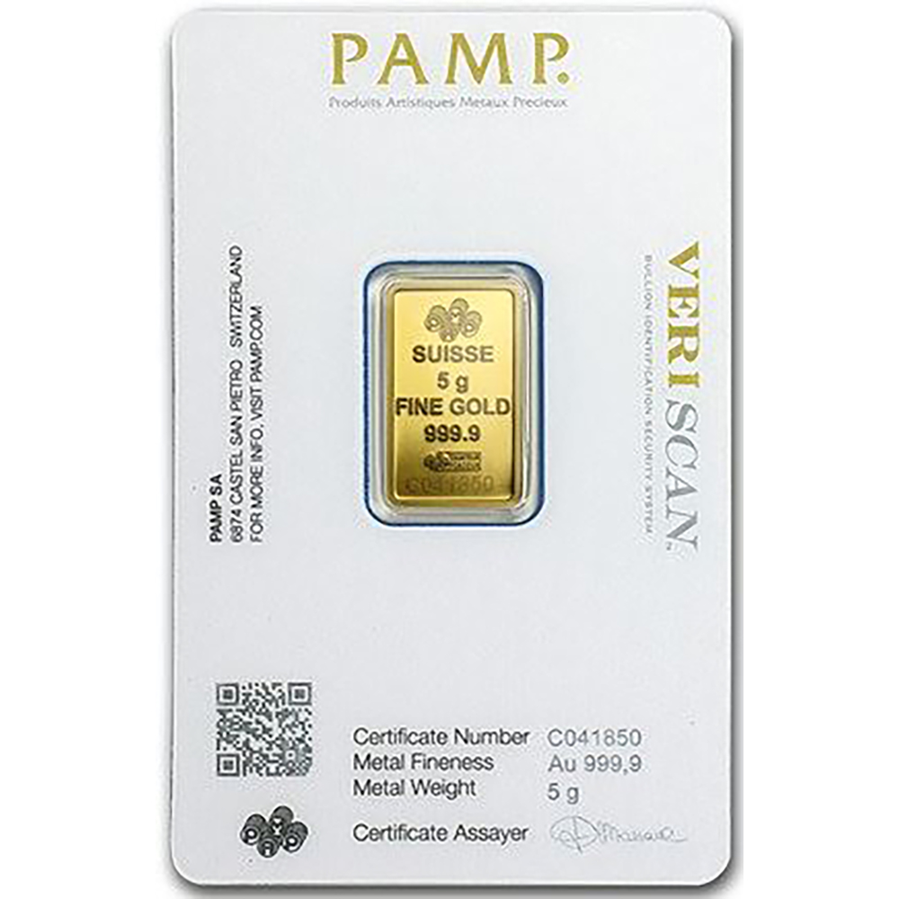 PAMP Suisse Fortuna 5g Gold 25 Bar Box (Image 4)