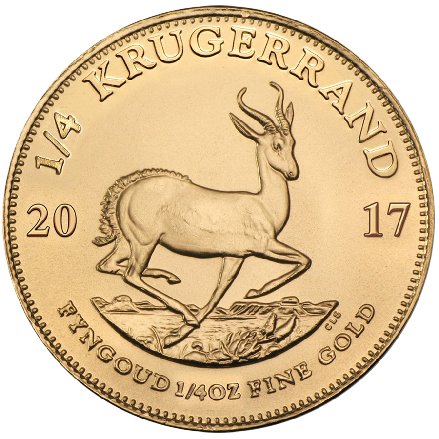 2017 South African Krugerrand 1/4oz Gold Coin