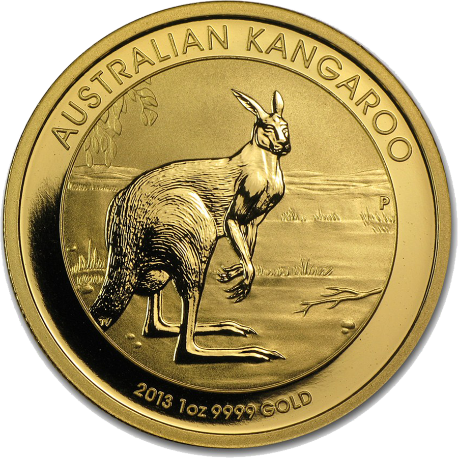 Pre-Owned 2013 Australian Kangaroo 1oz Gold Coin (Image 1)