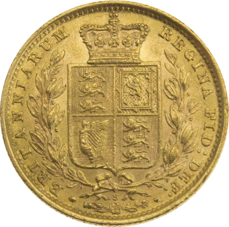 """Pre-Owned 1884 Sydney Mint Victorian """"Shield"""" Full Sovereign Gold Coin (Image 2)"""