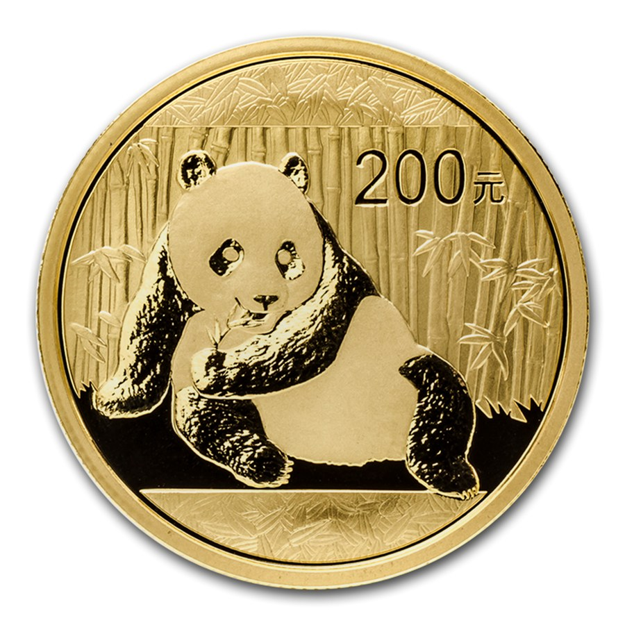 Pre-Owned 2015 Chinese Panda 1/2oz Gold Coin