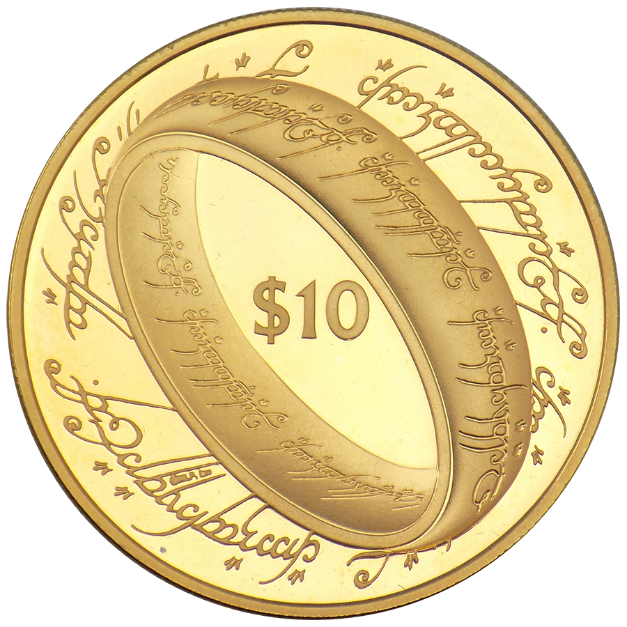 Lord Of The Rings Gold Coins Free Fully Insured Delivery