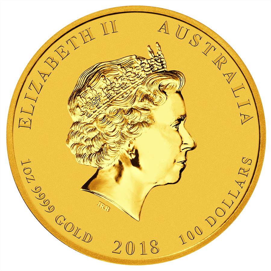 2018 Australian Lunar Dog 1oz Gold Coin (Image 2)