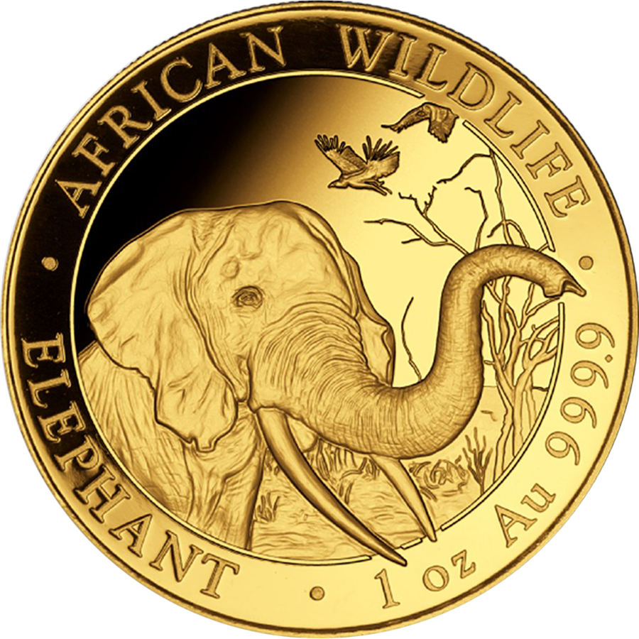 2018 Somalian Elephant 1oz Gold Coin