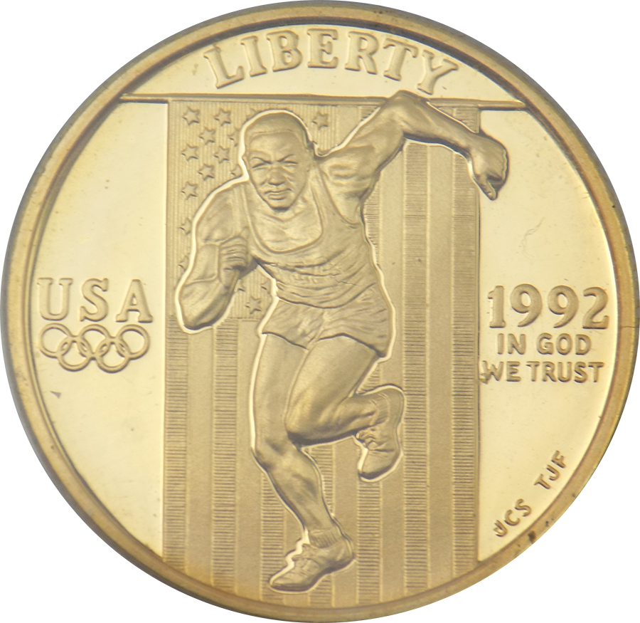 Pre-Owned 1992 USA Olympics $5 Gold Coin