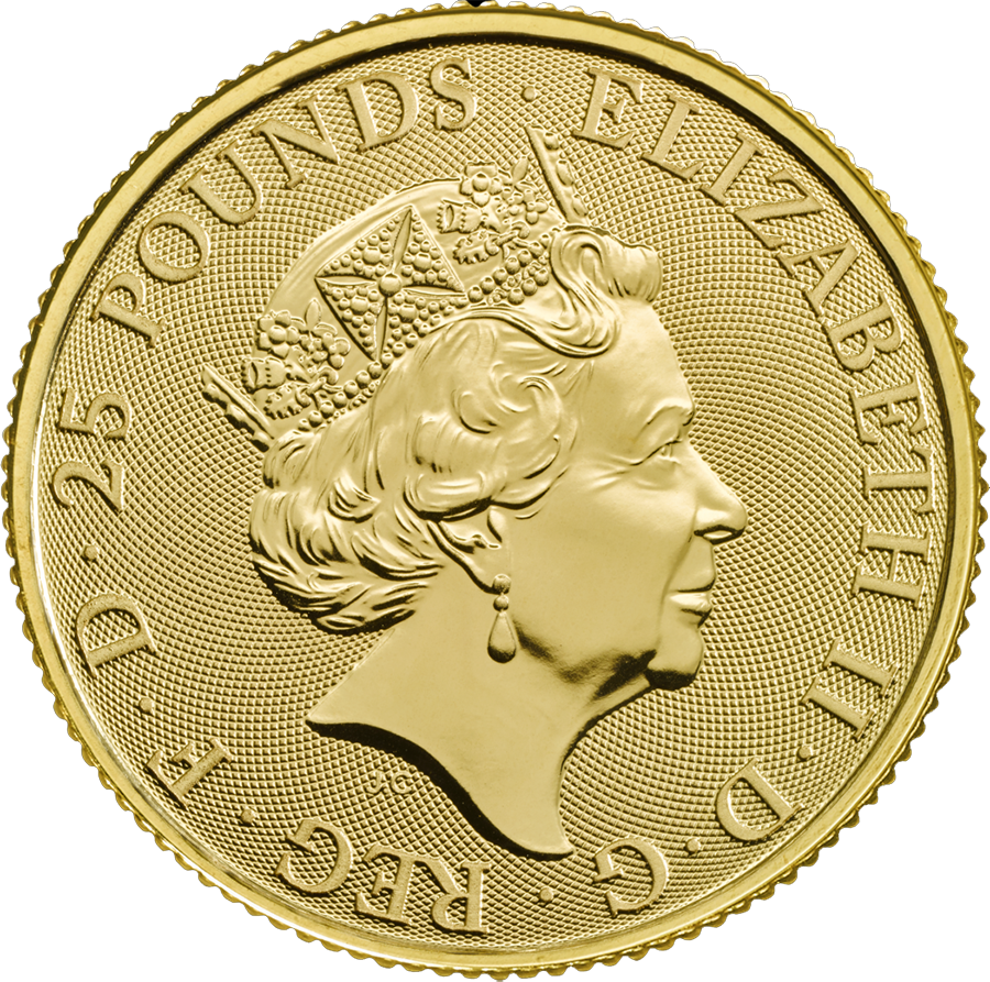 2018 UK Queen's Beasts The Unicorn 1/4oz Gold Coin (Image 2)