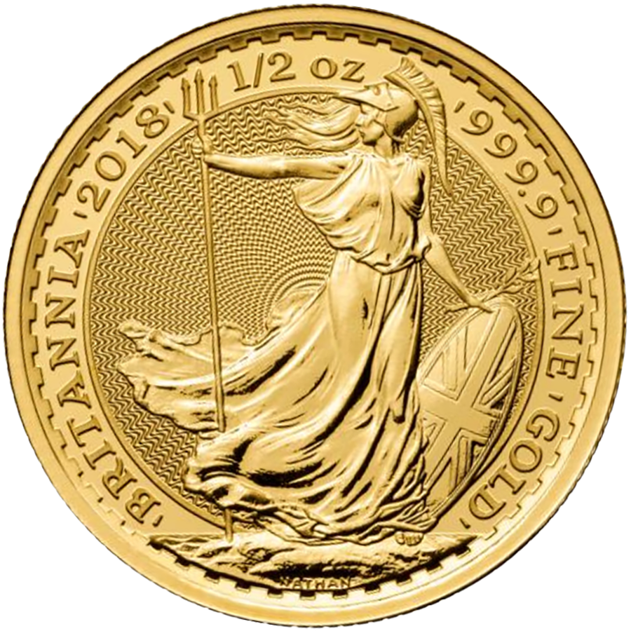 2018 UK Britannia 1/2oz Gold Coin