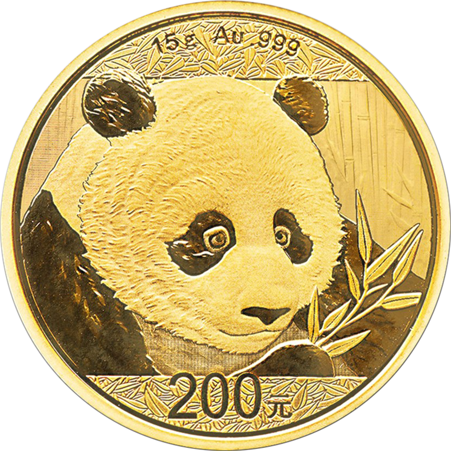 2018 Chinese Panda 15g Gold Coin