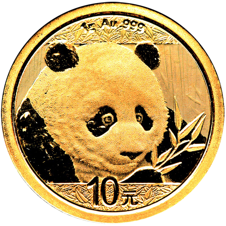 2018 Chinese Panda 1g Gold Coin