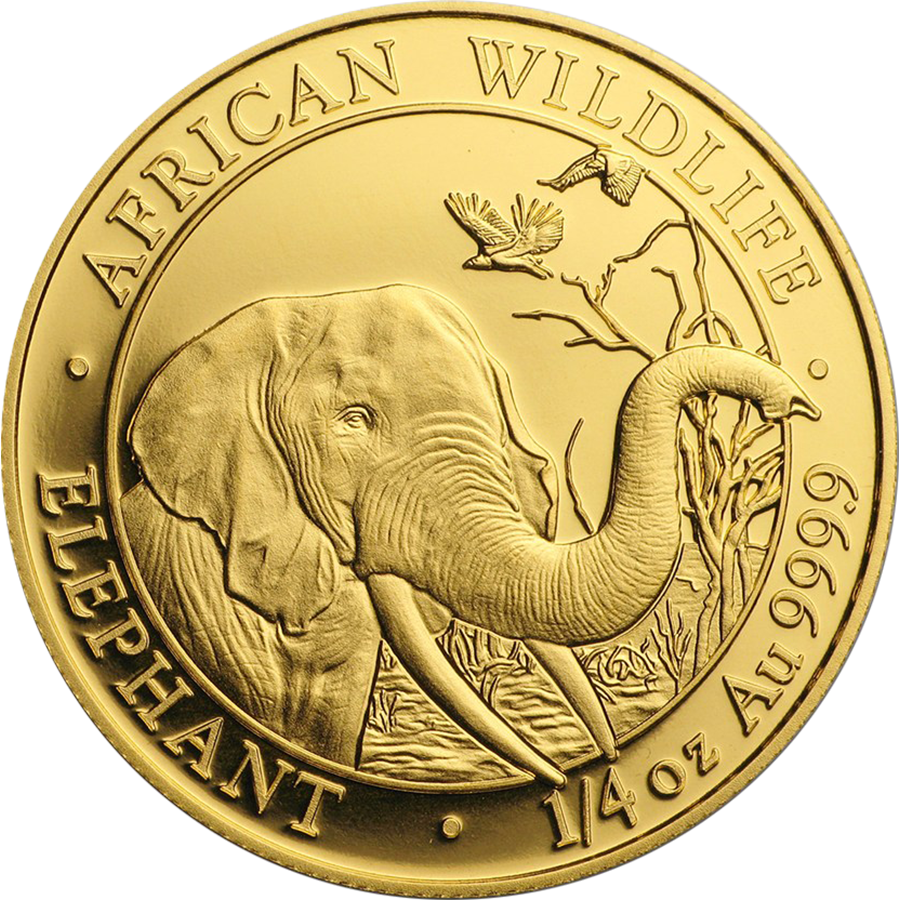 2018 Somalian Elephant 1/4oz Gold Coin