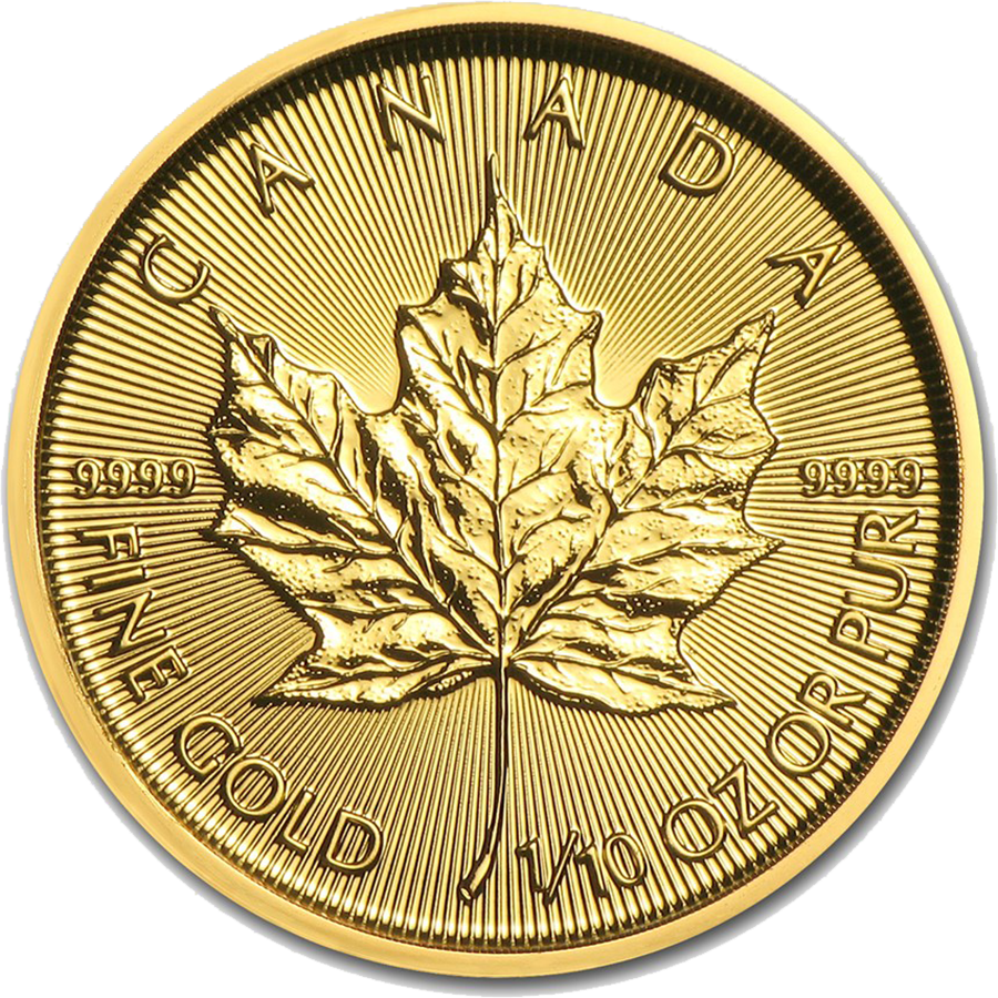 2018 Canadian Maple 1/10oz Gold Coin