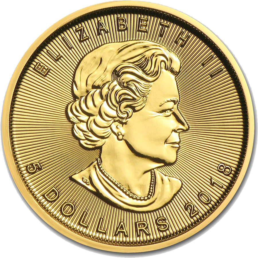 2018 Canadian Maple 1/10oz Gold Coin (Image 2)
