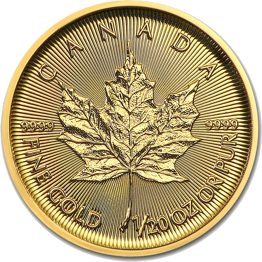 2018 Canadian Maple 1/20oz Gold Coin