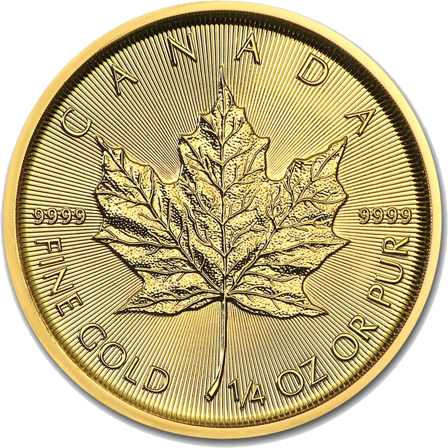 2018 Canadian Maple 1/4oz Gold Coin