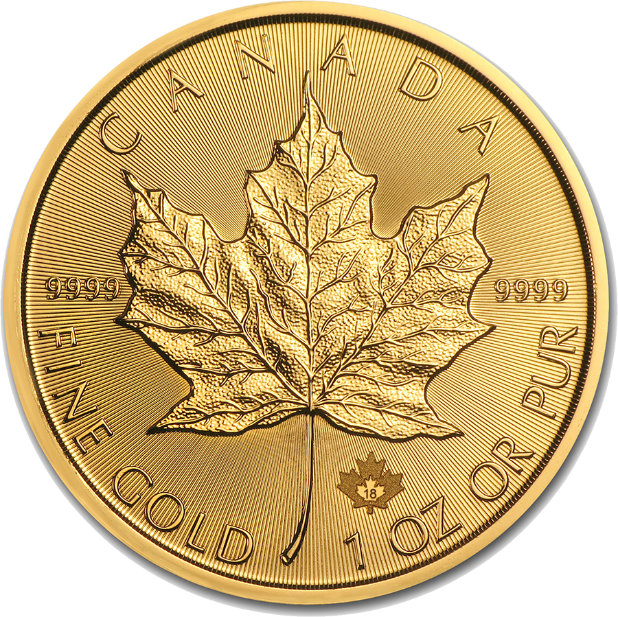 2018 Canadian Maple 1oz Gold Coin