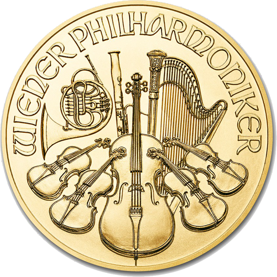 2018 Austrian Philharmonic 1/4oz Gold Coin
