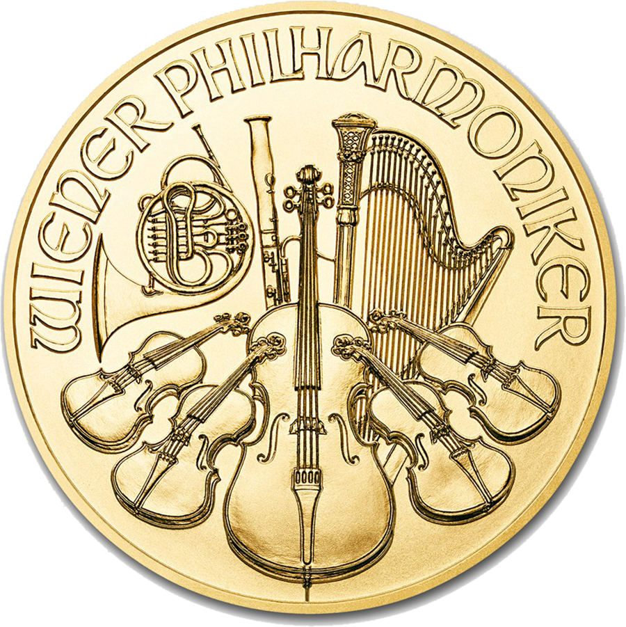 2018 Austrian Philharmonic 1/10oz Gold Coin