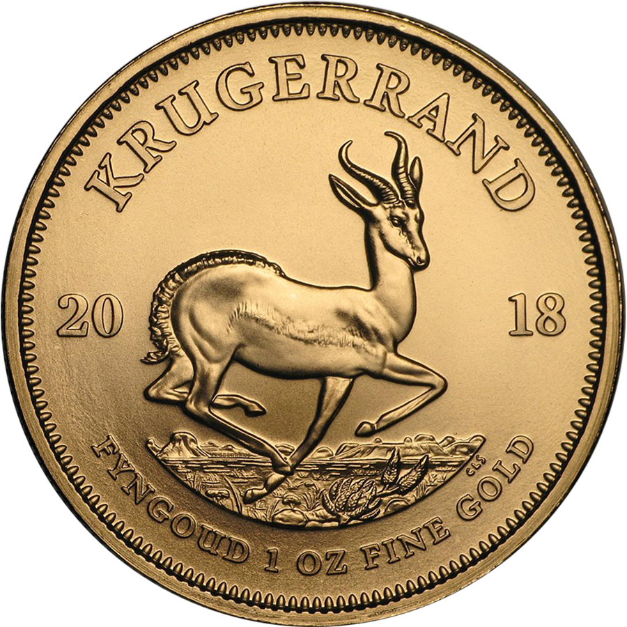 2018 South African Krugerrand 1oz Gold Coin